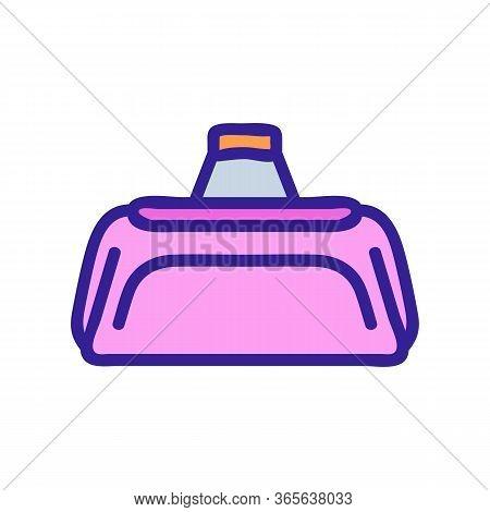 Regular Sports Bag Icon Vector. Regular Sports Bag Sign. Color Symbol Illustration