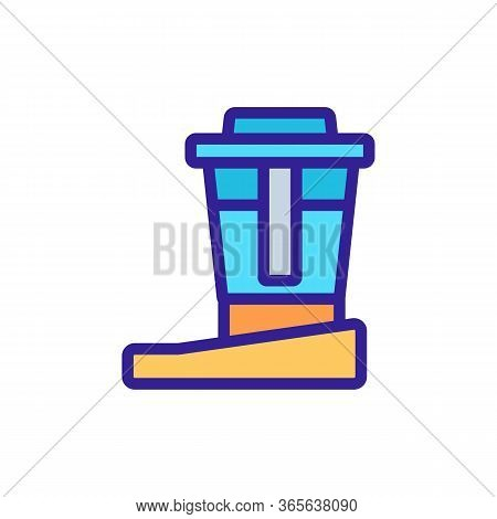 Water Purification Filter Icon Vector. Water Purification Filter Sign. Color Symbol Illustration