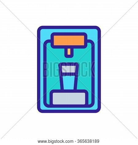 Water Cooler Front View Icon Vector. Water Cooler Front View Sign. Color Symbol Illustration