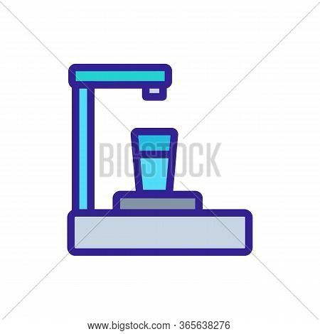 Small Cooler With Full Glass Icon Vector. Small Cooler With Full Glass Sign. Color Symbol Illustrati