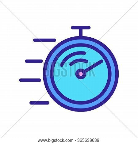 Competition Stopwatch Icon Vector. Competition Stopwatch Sign. Color Symbol Illustration