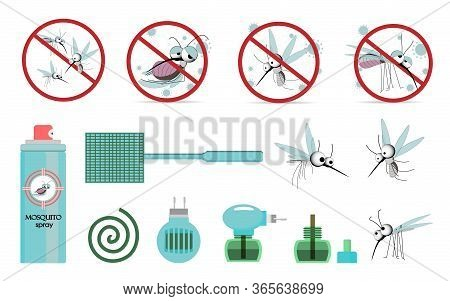 Means Of Protection Against Mosquitoes. Pest Control. Mosquitoes. Insecticides. Fumigator, Fly Swatt