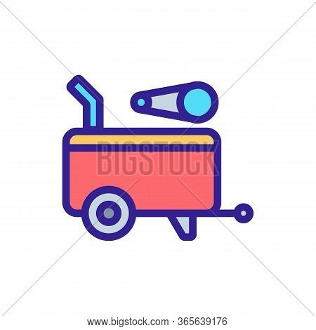 Portable Engine Icon Vector. Portable Engine Sign. Color Symbol Illustration