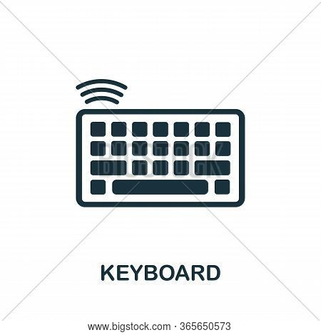 Keyboard Icon. Simple Illustration From Wireless Devices Collection. Creative Keyboard Icon For Web