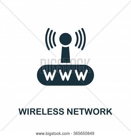 Wireless Network Icon. Simple Illustration From Wireless Devices Collection. Creative Wireless Netwo