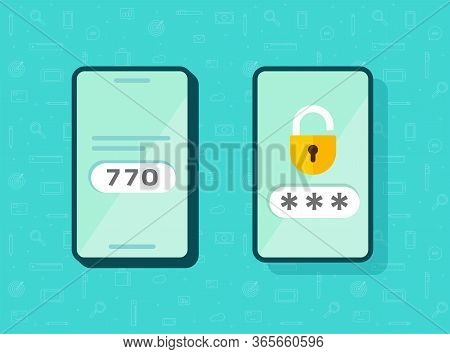 2fa Icon Password Secure Login Authentication Verification Vector Or Sms Push Code Messages Symbol O