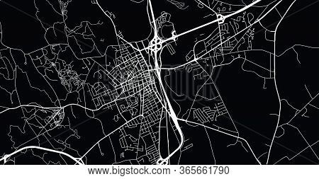 Urban Vector City Map Of Concord, Usa. New Hampshire State Capital