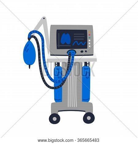 Ventilator Medical Machine. Ventilator Machine Used To Assist Breathing.. Medical Care And Fight Aga