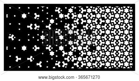 Islamic Laser Pattern. Decorative Vector Panel, Screen, Sheet, Partition, Divider For Laser Cutting