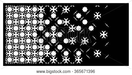 Islamic Laser Pattern. Decorative Vector Panel For Laser Cutting. Islamic Template For Interior Part