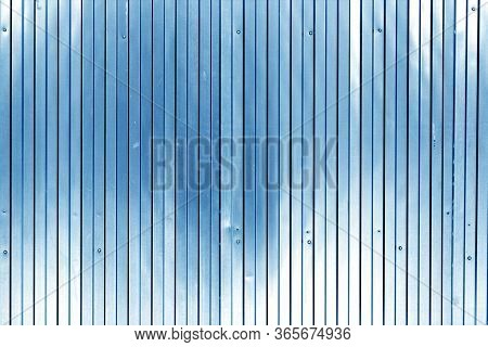Metal List Wall Texture Of Fence In Navy Blue Tone. Abstract Background And Texture For Design.