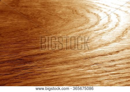 Wooden Board Texture With Blur Effect In Orange Tone. Abstract Background And Texture For Design.