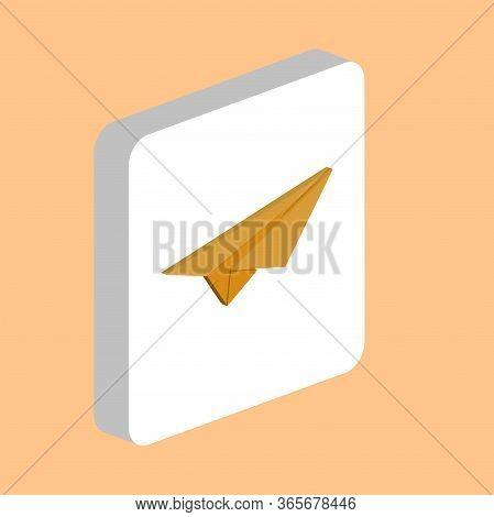 Paper Plane Simple Vector Icon. Illustration Symbol Design Template For Web Mobile Ui Element. Perfe