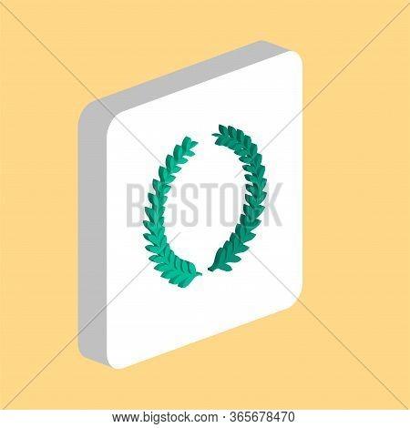 Laurel Wreath Simple Vector Icon. Illustration Symbol Design Template For Web Mobile Ui Element. Per