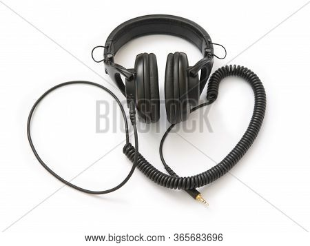 Audio Headphones Isolated On White Backround, Music