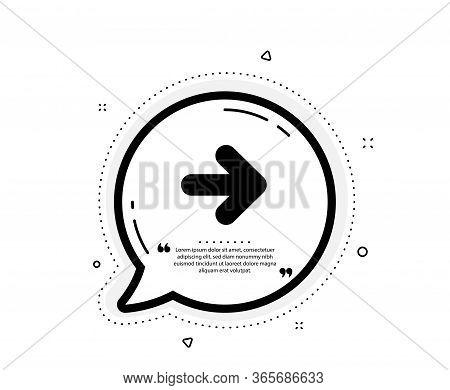 Next Arrow Icon. Quote Speech Bubble. Forward Arrowhead Symbol. Navigation Pointer Sign. Quotation M