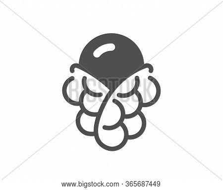 Ice Cream Bubble Waffle Icon. Vanilla Sundae Cone Sign. Frozen Summer Dessert Symbol. Classic Flat S