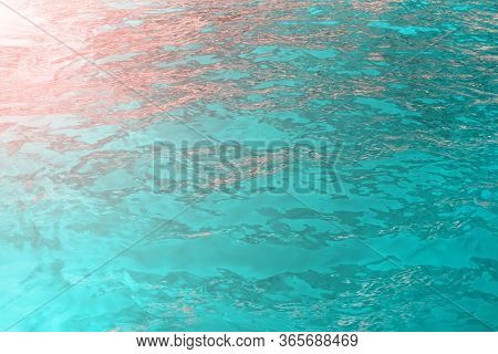 Azure Sea Color With Sun Rays. Can Be Used As Background