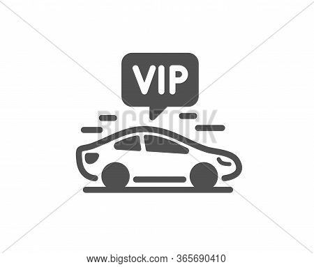 Vip Transfer Icon. Very Important Person Transport Sign. Luxury Taxi Symbol. Classic Flat Style. Qua