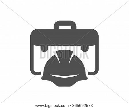 Construction Toolbox Icon. Architect Portfolio Sign. Engineer Case Symbol. Classic Flat Style. Quali