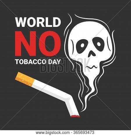 World No Tobacco Day Vector Illustration, World No Tobacco Day