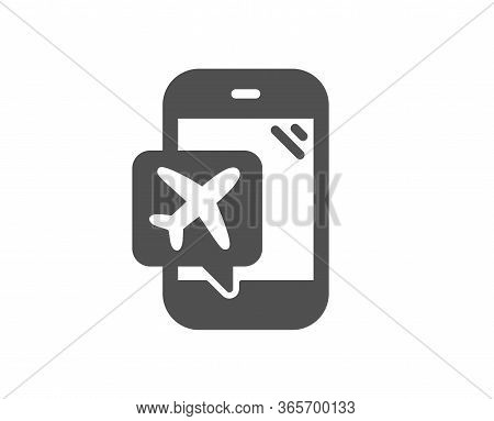 Flight Mode Icon. Airplane Mode Sign. Turn Device Offline Symbol. Classic Flat Style. Quality Design