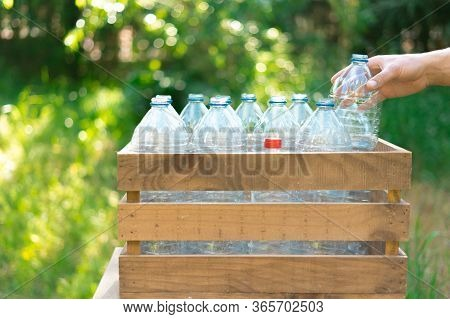 Reuse Of Plastic Bottles Recycling Concept