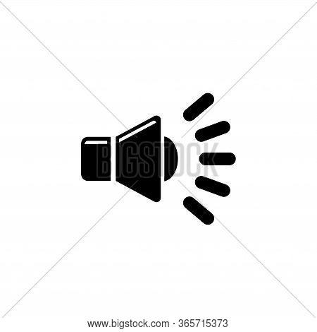 Speaker Volume, Music Noise, Audio Voice. Flat Vector Icon Illustration. Simple Black Symbol On Whit