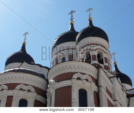 Domes Of Nevsky Cathedral, Tallinn