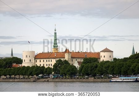 View Of The Riga Castle - The Residence Of President Of Latvia (old Town, Riga, Latvia)