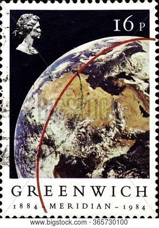 02 10 2020 Divnoe Stavropol Krai Russia The Postage Stamp Great Britain 1984 The 100th Anniversary O