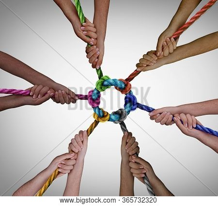 Diverse Employees Team Meeting As A Business Concept For Pulling Together For Work Teamwork Success