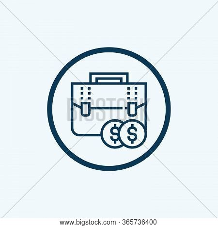 Briefcase Icon Isolated On White Background From Business Strategy Collection. Briefcase Icon Trendy