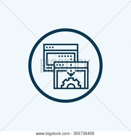 Browser Icon Isolated On White Background From Web Design Collection. Browser Icon Trendy And Modern
