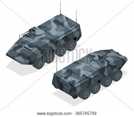 An Armoured Personnel Carrier Apc , Broad Type Of Armoured, Military Vehicles Designed To Transport