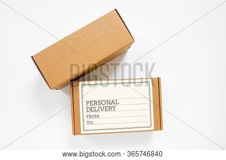 Recycling Personal Delivery Kraft Cardboard Boxes For Parcels Or Packaging Gifts And Goods Including