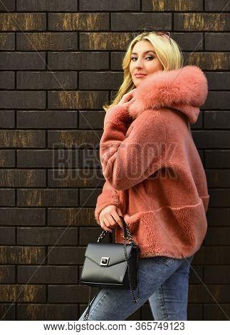 Pink Sheepskin Coat. Fancy Chic Coat. Natural Wool Sheepskin Coat. Fur On Hood. Stay Warm And Fashio