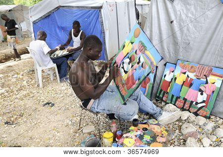 The Haitian Painter.