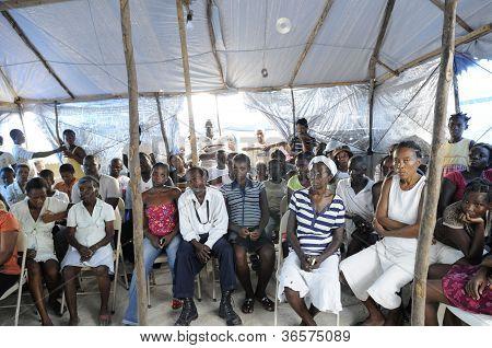 Meetings of Haitians.