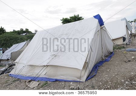 Tents for the refugees.
