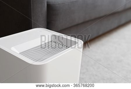 Air Purifier In The Room. Air Washing System.