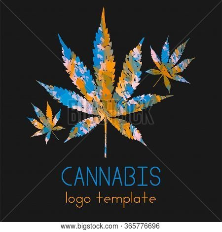 Marijuana Logo. Cannabis In A Simple Modern Style. The Use Of Marijuana For Medicinal Purposes. Lega