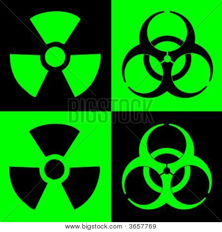Warning Sign Of Radiation And Biohazard
