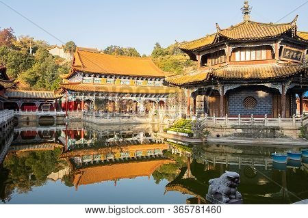 Scenic Of Yuantong Temple, The Most Famous Buddhist Temple In Kunming. Landmark And Popular For Tour