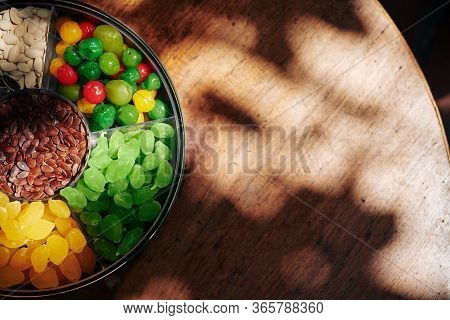 Mut Plate For Tet With Dried Fruits And Berries And
