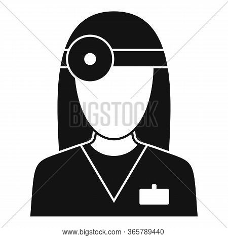 Eye Examination Doctor Icon. Simple Illustration Of Eye Examination Doctor Vector Icon For Web Desig