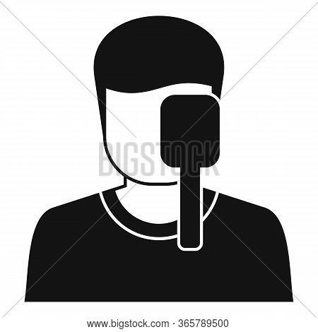 Check Eye Examination Icon. Simple Illustration Of Check Eye Examination Vector Icon For Web Design