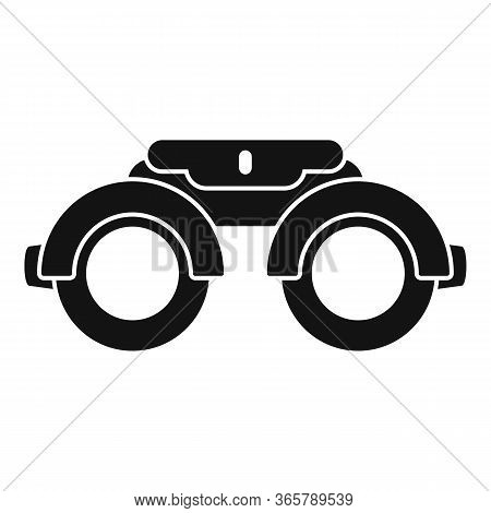 Eye Examination Steel Glasses Icon. Simple Illustration Of Eye Examination Steel Glasses Vector Icon