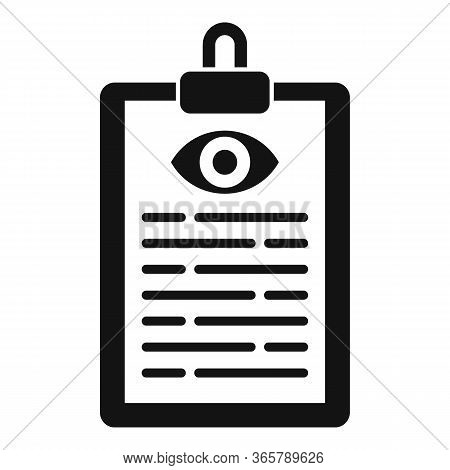 Eye Examination Card Icon. Simple Illustration Of Eye Examination Card Vector Icon For Web Design Is