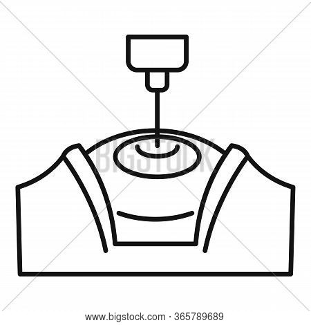 Laser Eye Examination Icon. Outline Laser Eye Examination Vector Icon For Web Design Isolated On Whi